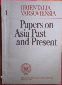 Papers on Asia past and present, Orientalia Varsoviensia 1