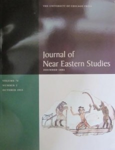 Journal of Near Eastern Studies 74/2, 2015